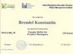 """Сертифікат про закінчення курсів """"People skills for Project Managers"""""""